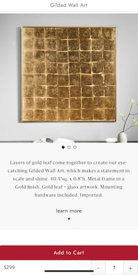 Brand new in box West Elm Gilded Wall Art 16 mi