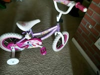 toddler's purple and white bicycle with training wheels Silver Spring, 20904