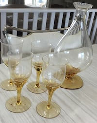 Vintage Wine Decanter and Glasses