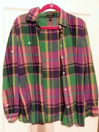red, green, and white plaid sport shirt Central, 70739
