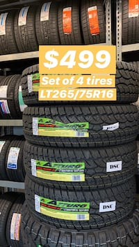 LT265/75R16 SET OF 4 ALL TERRAIN TIRES ON SALE WE FINANCE NO CREDIT NEEDED  Concord, 94520