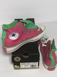 Pink and Green Converse All Star high top sneakers Virginia Beach, 23462