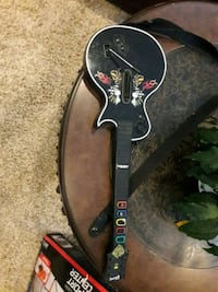 black guitar hero controller