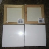 two white and brown wooden photo frames Greeley, 80631