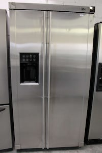 silver side-by-side refrigerator with dispenser Woodbridge, 22191
