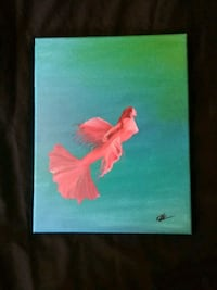 Hand painted 11x14 canvas mermaid wall art Independence, 97351