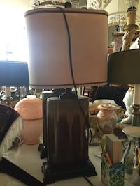 Two brown table lamp
