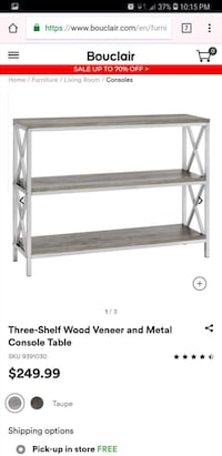 Bouclair shelving *new in box* Mississauga, L5M 3Y2