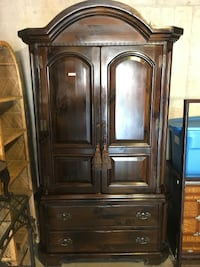 Brown Wooden Armoire Alexandria