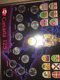Canada 125 Coin Set in hanging metal case Calgary, T2Y