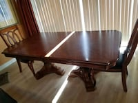 Dining room table with two and chairs