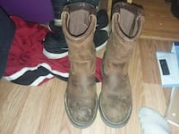pair of brown leather round-toe cowboy boots Moatsville, 26405