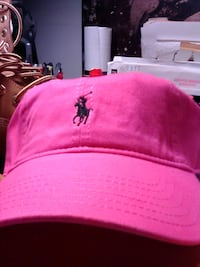 Polo Hat Pink with Blue pony Nashville