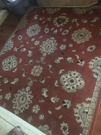 red and white floral area rug Toronto, M9C