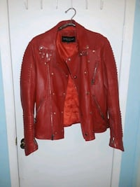 Mason & cooper size M red leather zipper up jacket Queens, 11421