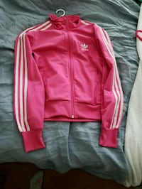 Pink and white Adidas track zip up Vancouver, V5Z 4N9