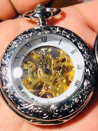 """The Black Pearl""Skeleton Pocket Watch! :) Seven Corners"