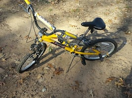 Yellow Hardtail bicycle