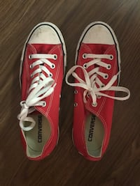 Women's 9 Men's 7 Red Converse Shoes Washington, 20024