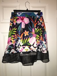 Black, pink, and green floral skirt Spring Hill, 34609