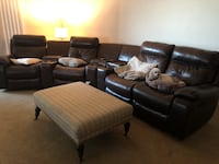 Leather reclining couches with drink holders , storafe Henderson, 89012