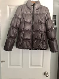 Michael Kors Gray Quilted Down Puffer Jacket Size M Coral Springs, 33067
