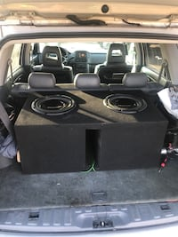 Kenwood head unit and  2 12s in ported custom box