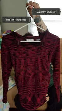 red and black scoop-neck shirt Indianapolis, 46203