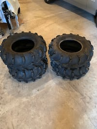 4 Wheeler ATV ATP Mud Lites Tires .. measurements in photos, West York