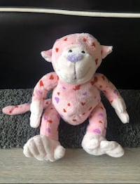 Pink Monkey with Hearts