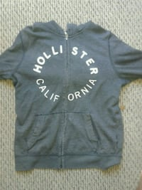 black and white Hollister zip-up hoodie Torrance, 90501