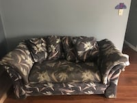 black and gray floral fabric 3-seat sofa Frederick, 21702