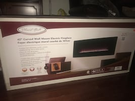 42 inch curved wall mount electric fireplace