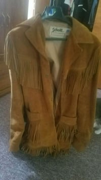 Leather fringe jacket Waldorf