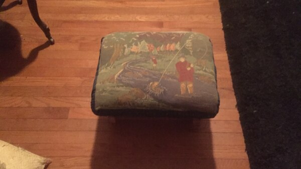 green and blue ottoman antique