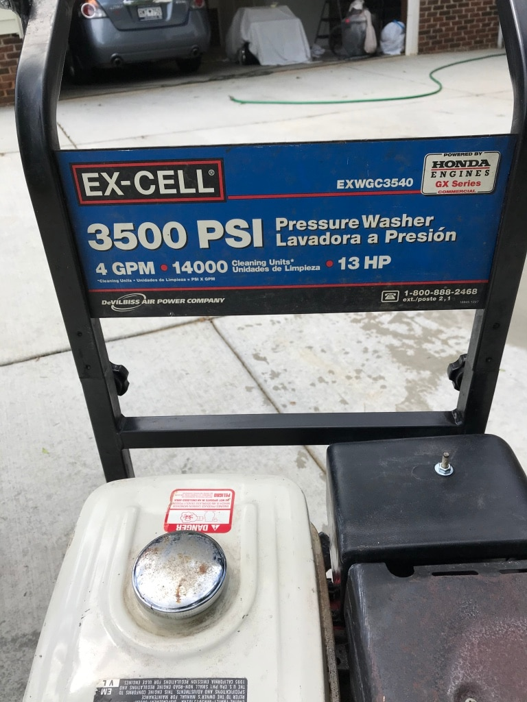 Photo Ex-cell pressure washer