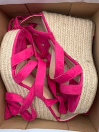 Pink lace up wedge Toronto, M6M 2E5