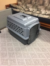 gray pet carrier 27 km