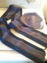 Hand crocheted Scarf & Beanie Set. New