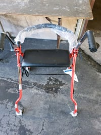 DRIVE MEDICAL TWO WHEELED WALKER WITH SEAT (RED)   Carrollton, 75007