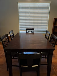 Expandable dining room table set 7 pieces