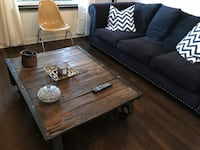 Coffee table - distressed wood wrought iron  Los Angeles, 90068
