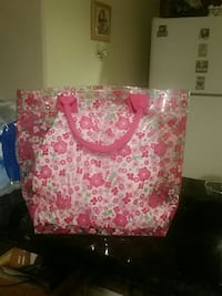 pink and white floral tote bag Mission, 78574