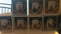 Vintage set of 7 Norman Rockwell porcelain mugs in boxes Sterling Heights, 48313