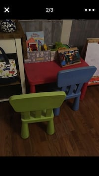 Ikea kids table and 2 chairs  Reston, 20191