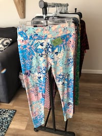 blue, white, and green floral pants Warren, 48088