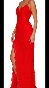 Prom dress red lace new. Long size small Newmarket, L3X 2V2