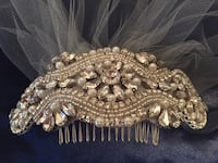 Short bridal veil with beaded comb Springfield, 22152