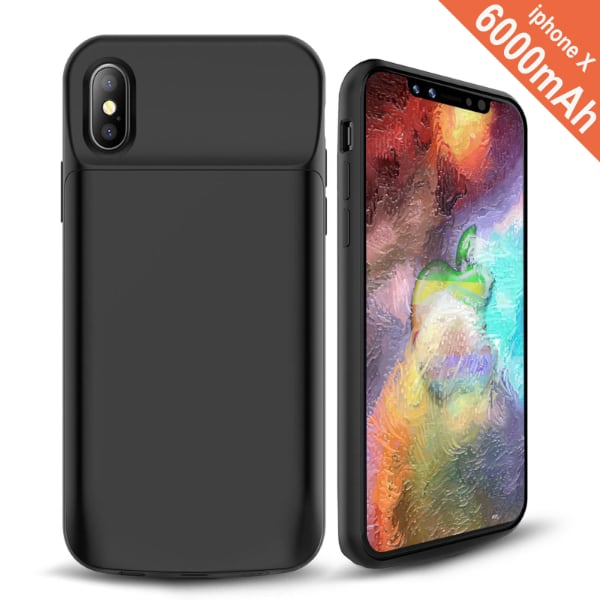 iPhone X Battery Case Power Bank Portable Charger Cover 6000mAh IPhone