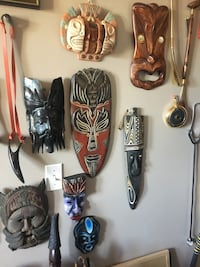 Lots of cool wooden masks Calgary, T2Y 2W5